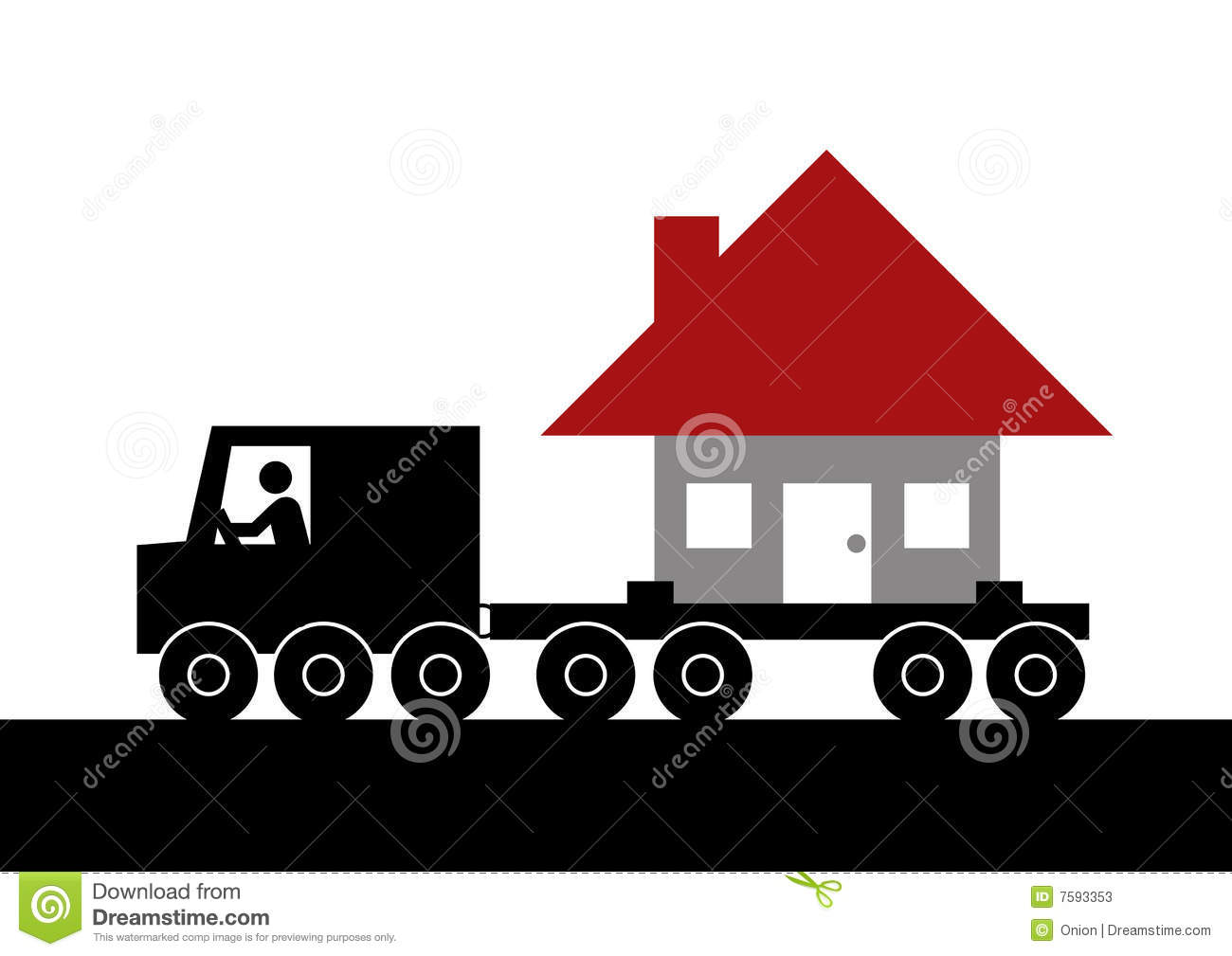 Moving house graphic stock photos image 7593353 When is the best time to move house