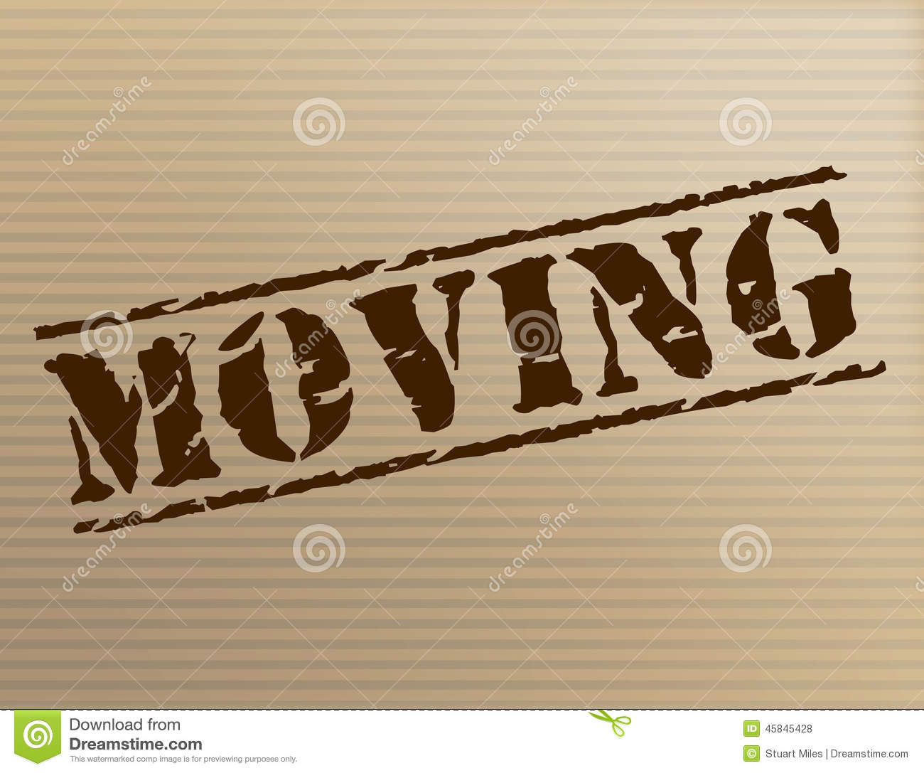 Apartment Meaning: Moving House Shows Change Of Residence And Apartment Stock