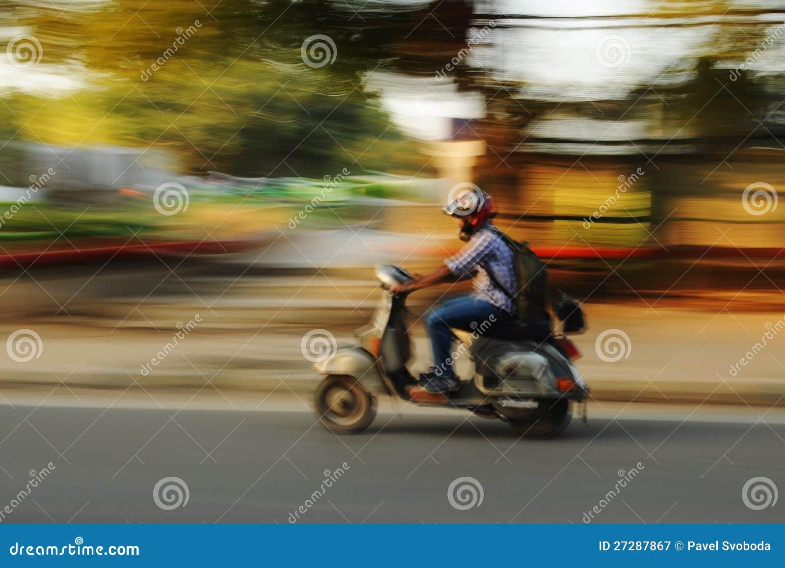 Moving motorbike, gammala Delhi, Indien