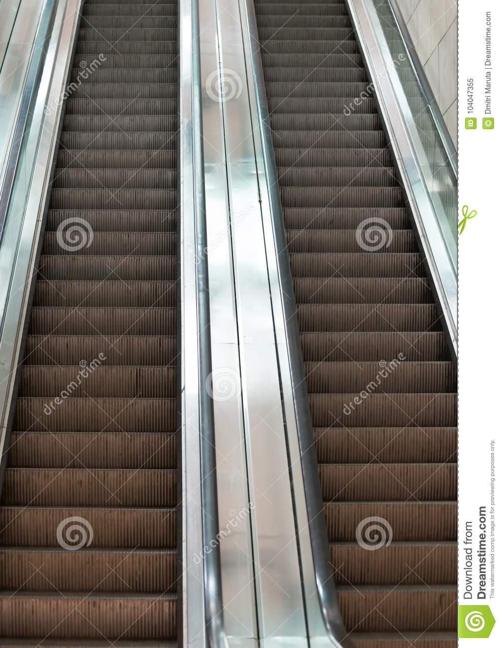 Download Moving Staircase. Stock Image. Image Of Perspective   104047355
