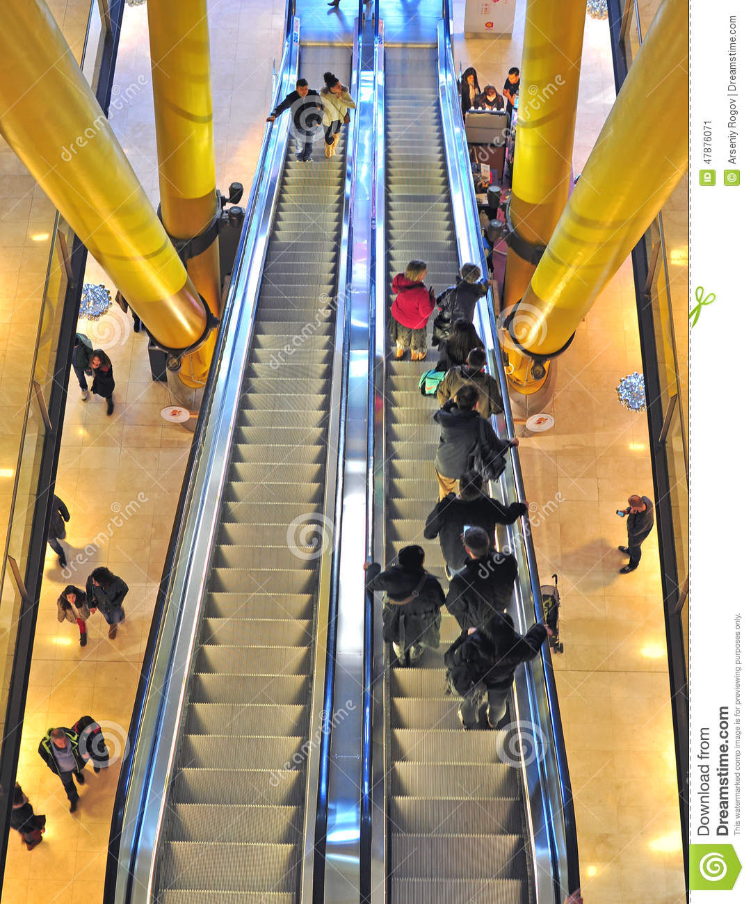 Moving Staircase In Shopping Mall Editorial Photo