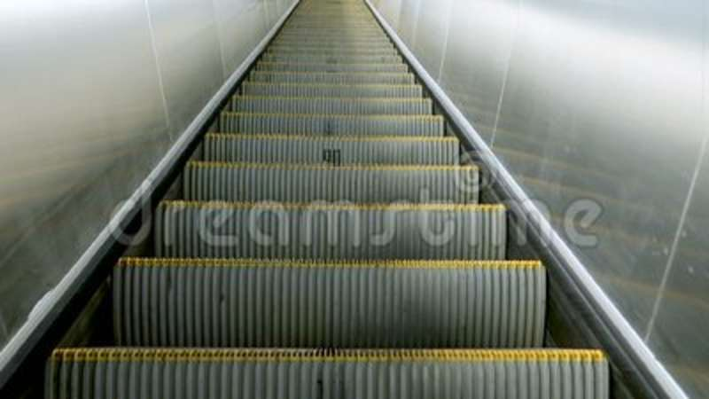 Moving Stairs Of Grey Modern Escalator. Escalator Close Up Stock Footage    Video Of Staircase, Close: 119109344