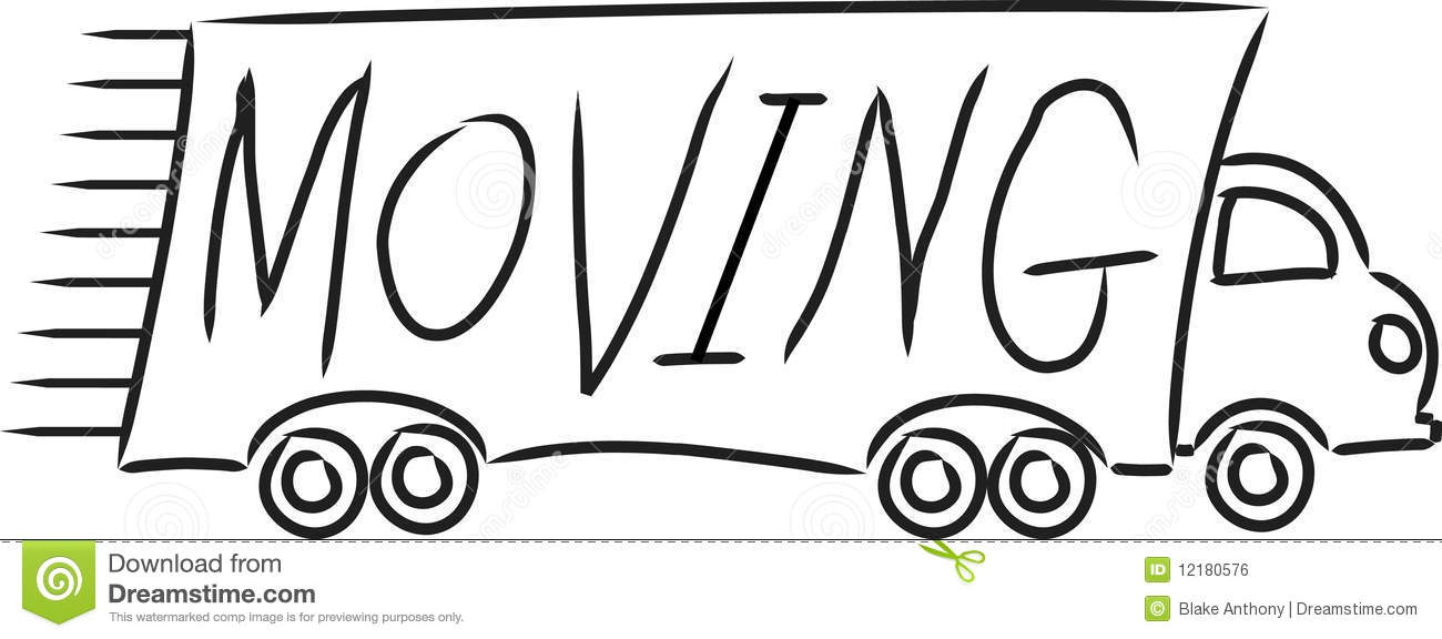 Moving Truck Royalty Free Stock Image - Image: 12180576