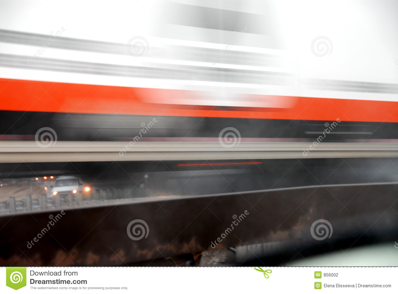 Moving truck blur