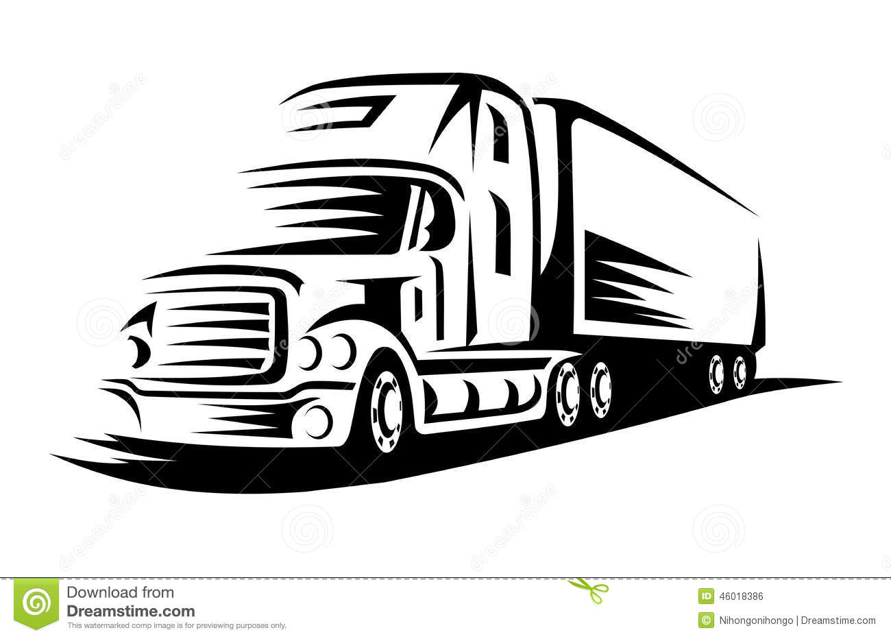 moving truck stock vector  illustration of heavy  moving