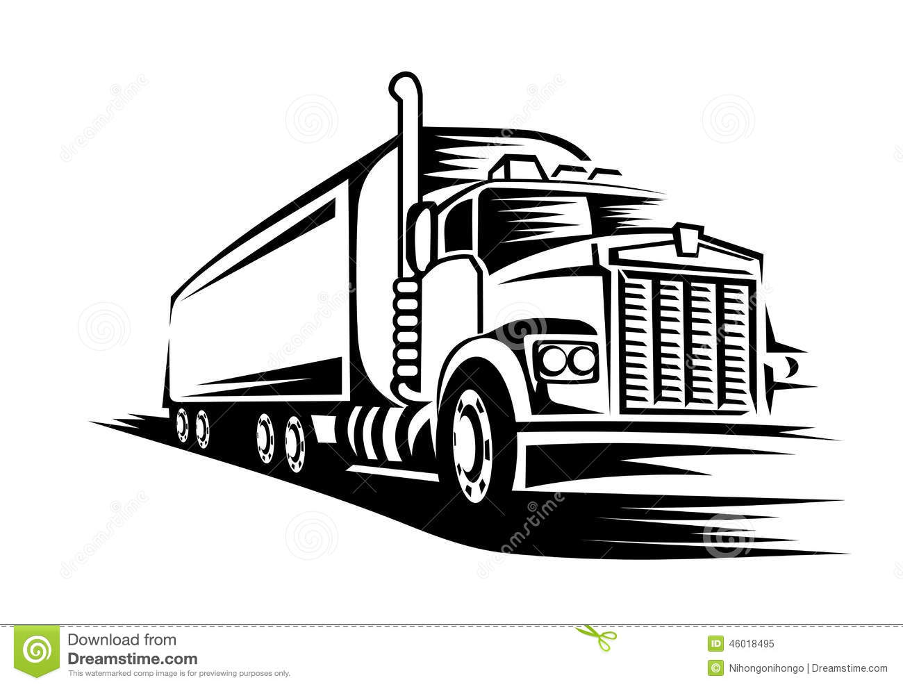 Stock Illustration Moving Truck Delivery Road Transportation Design Concept Image46018495 on kenworth semi trucks