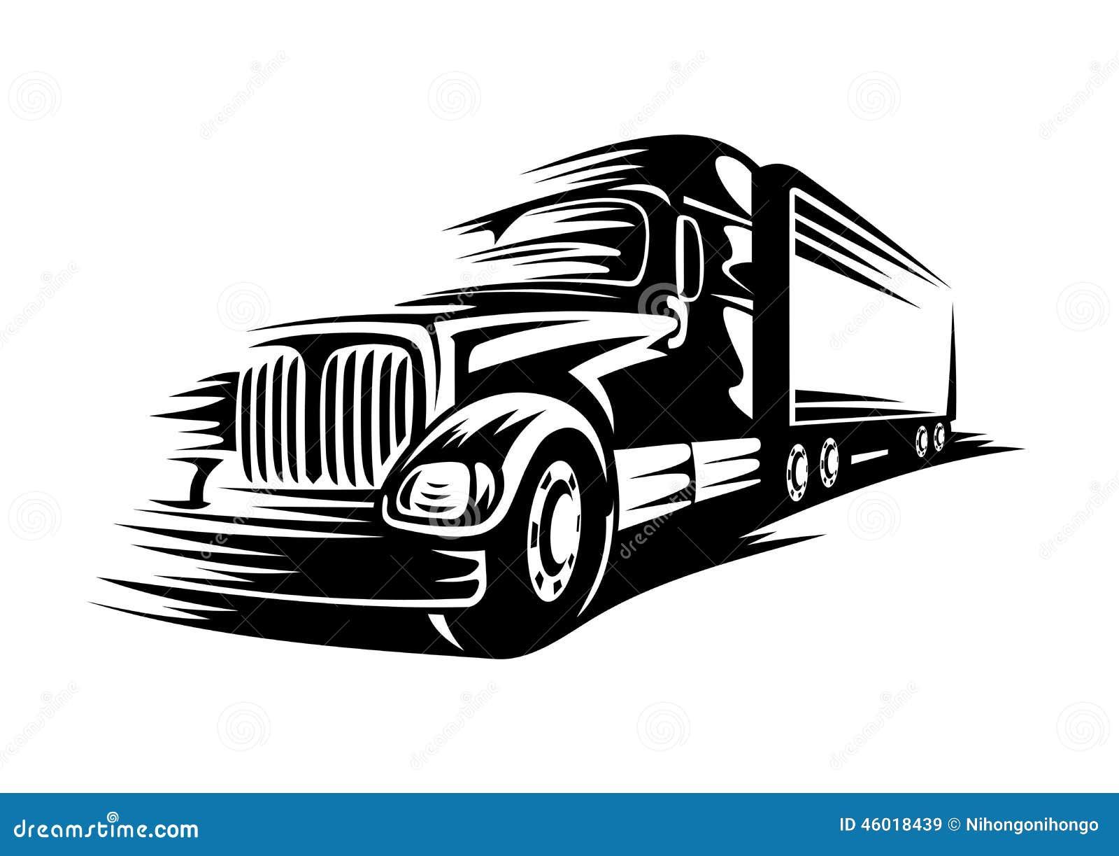 Stock Illustration Moving Truck Delivery Road Transportation Design Vector Illustration Image46018439 on Diesel Car Engine