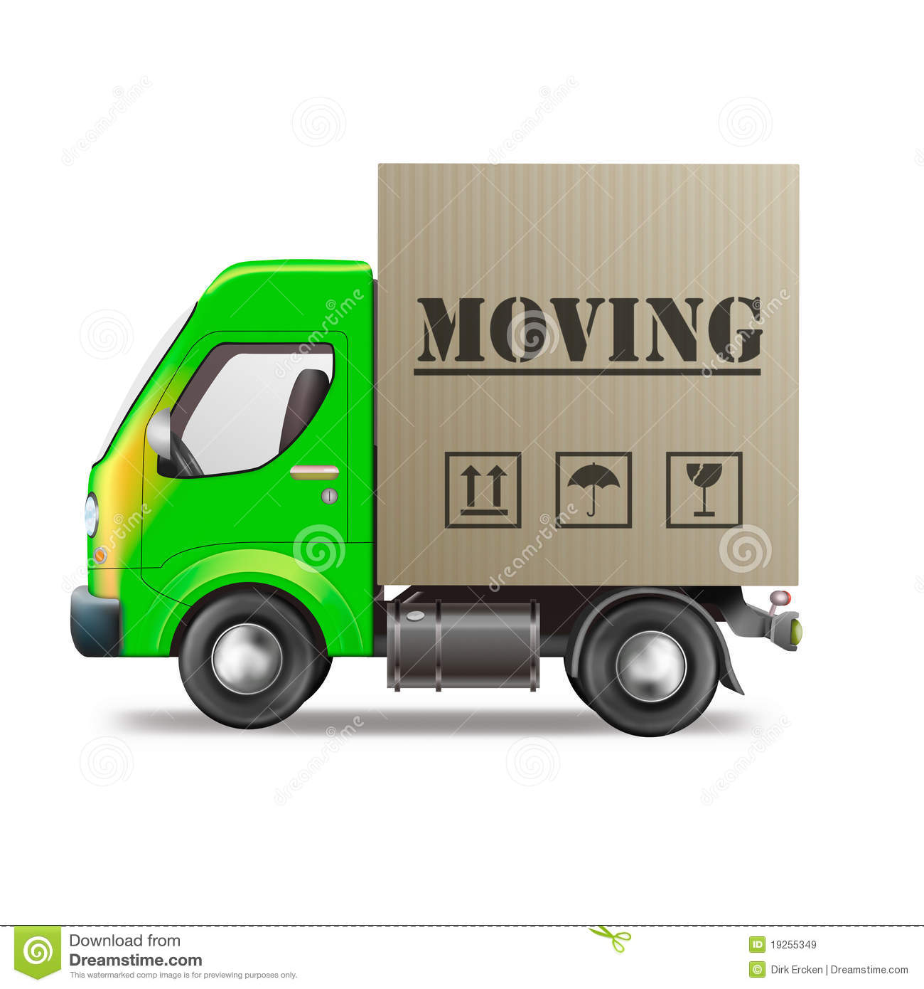 Moving truck house relocation van