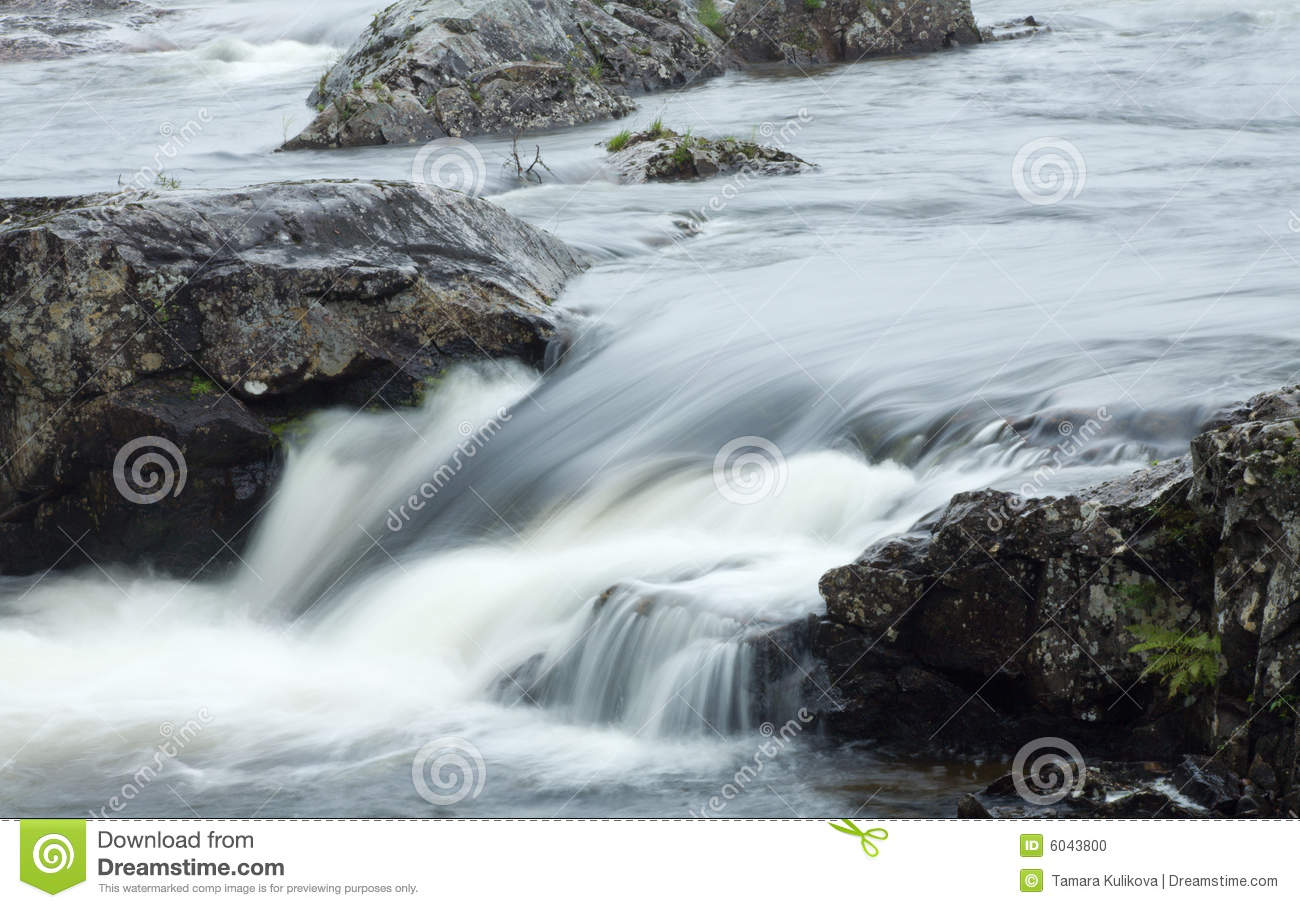 Moving Water Motion Blur Stock Photo Image 6043800