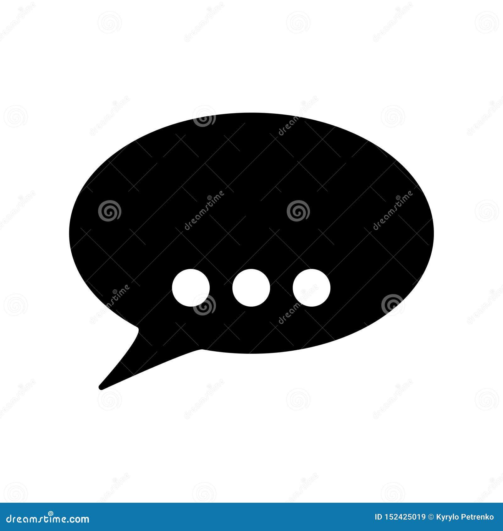 Mowa bąbel dla rozmowy ikony bielu tła