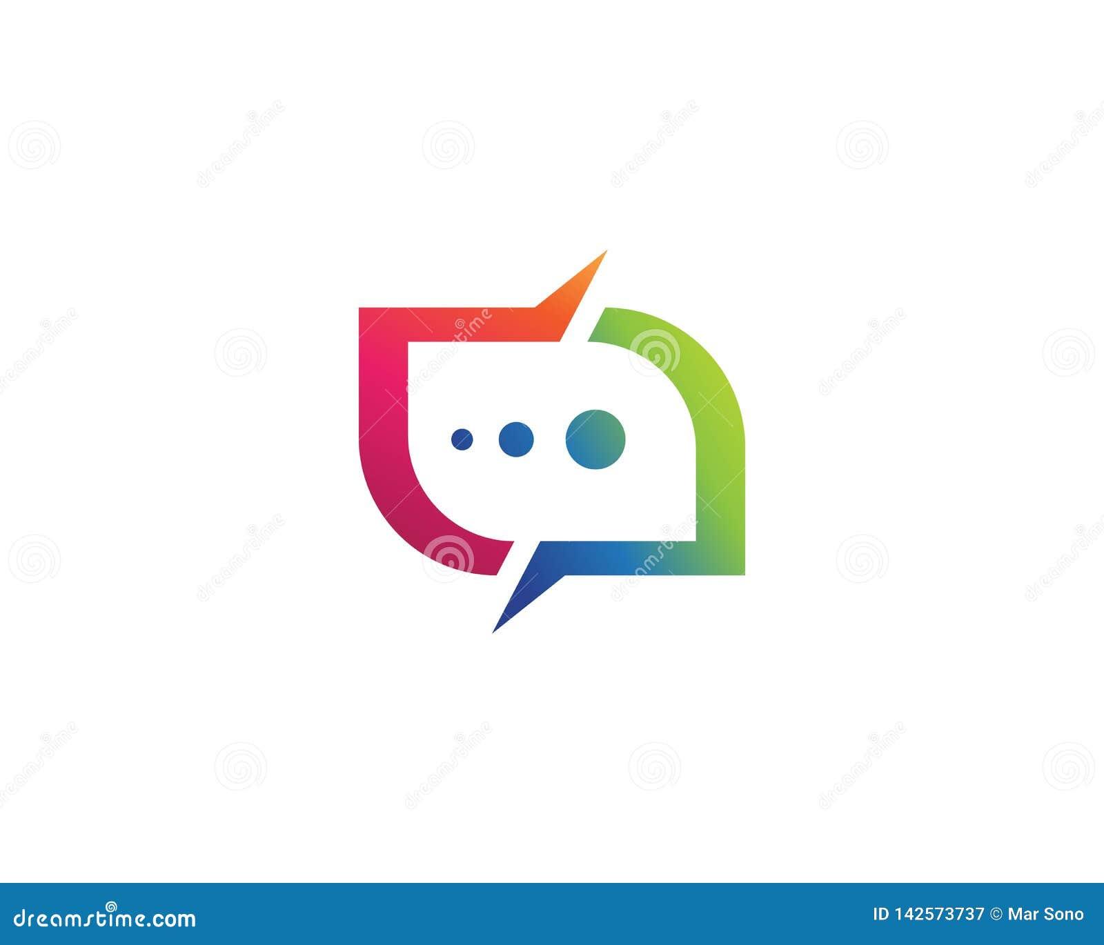 Mowa bąbla ikony logo szablonu wektorowy ilustracyjny wektor