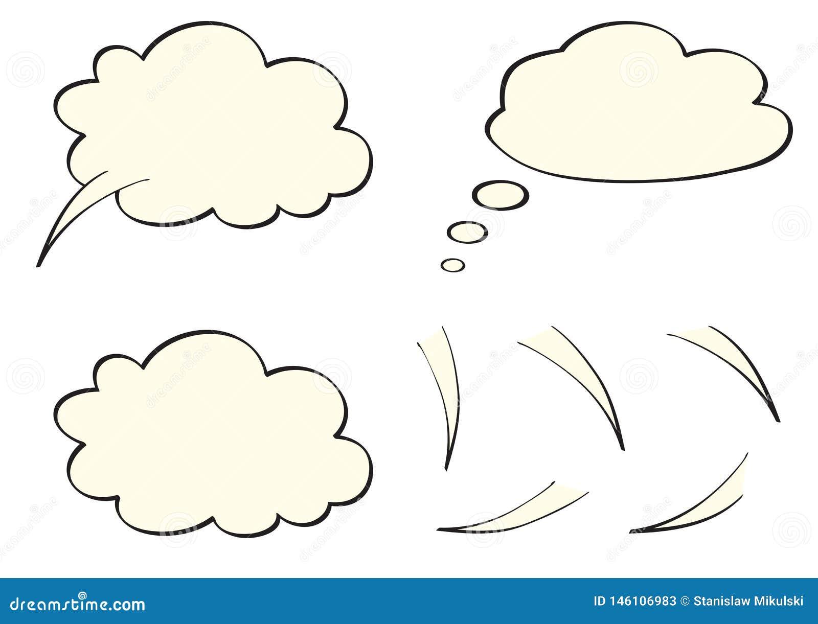 Mowa, myśl, myśl bąble jak chmury,