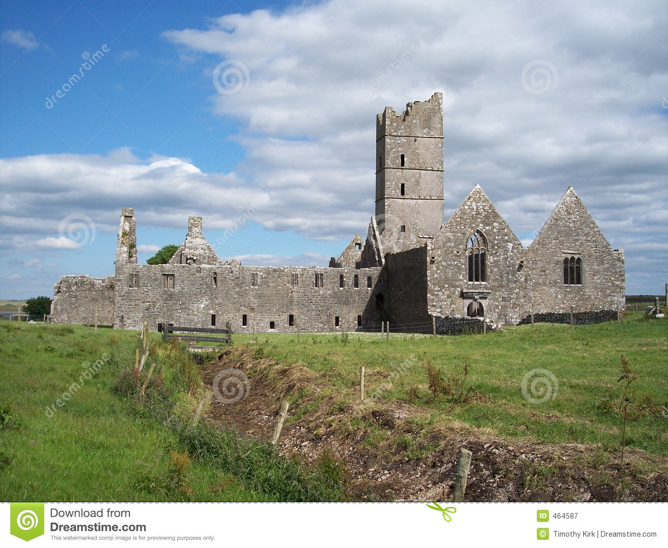 Moyne Abbey Co Mayo Ireland Stock Image Image 464587