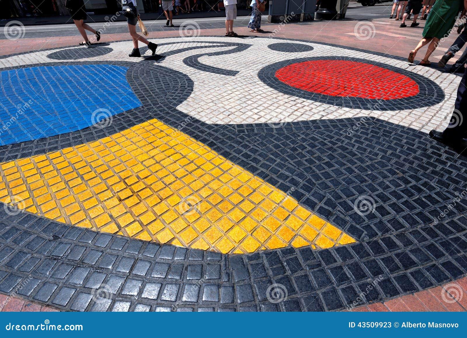 Mozaïek door Joan Miro - Barcelona Spanje