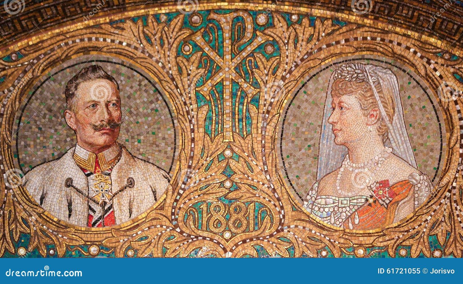 Mozaïek van Kaiser Wilhelm II