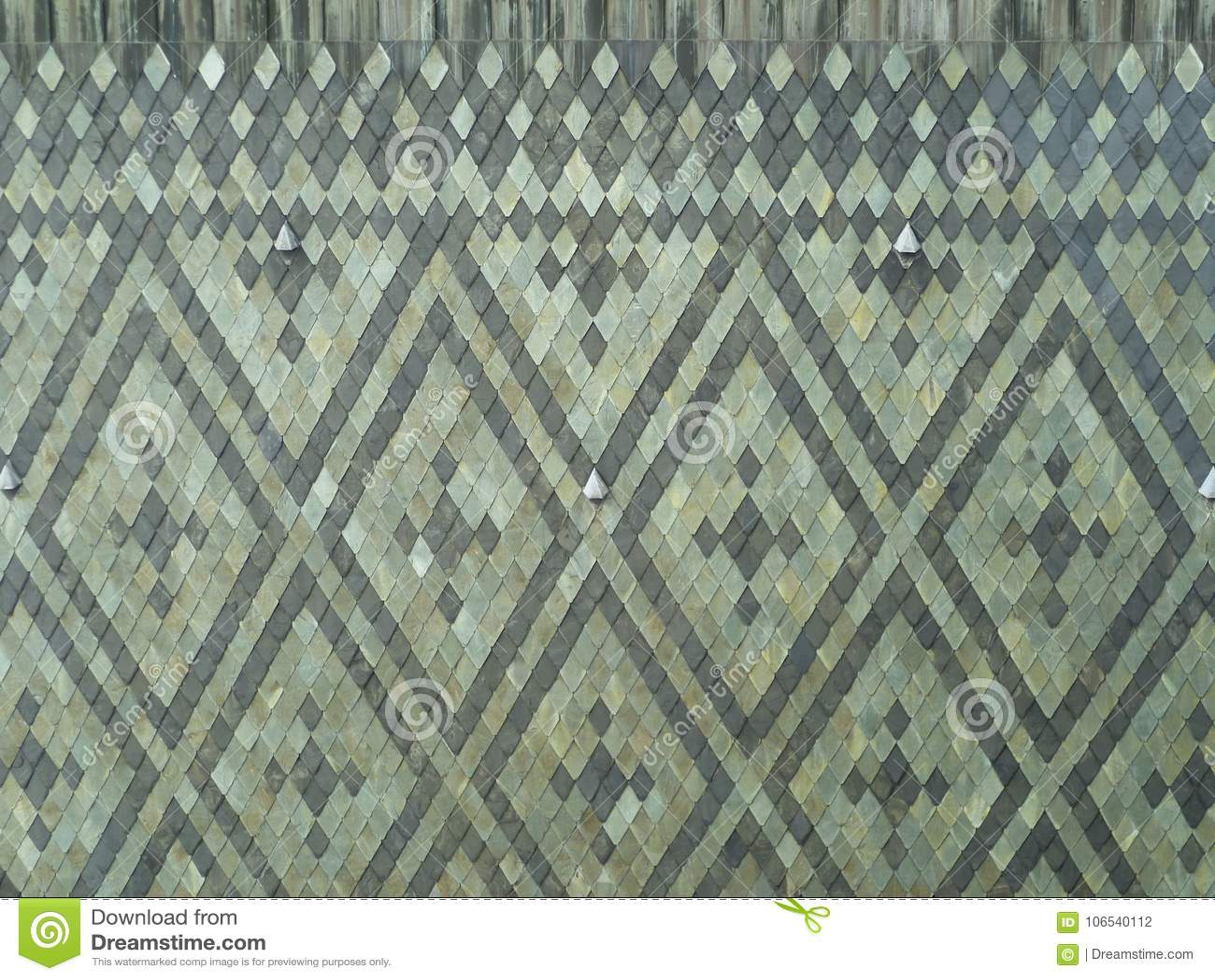 Mozaika szarzy rhombuses łupkowi kamienie