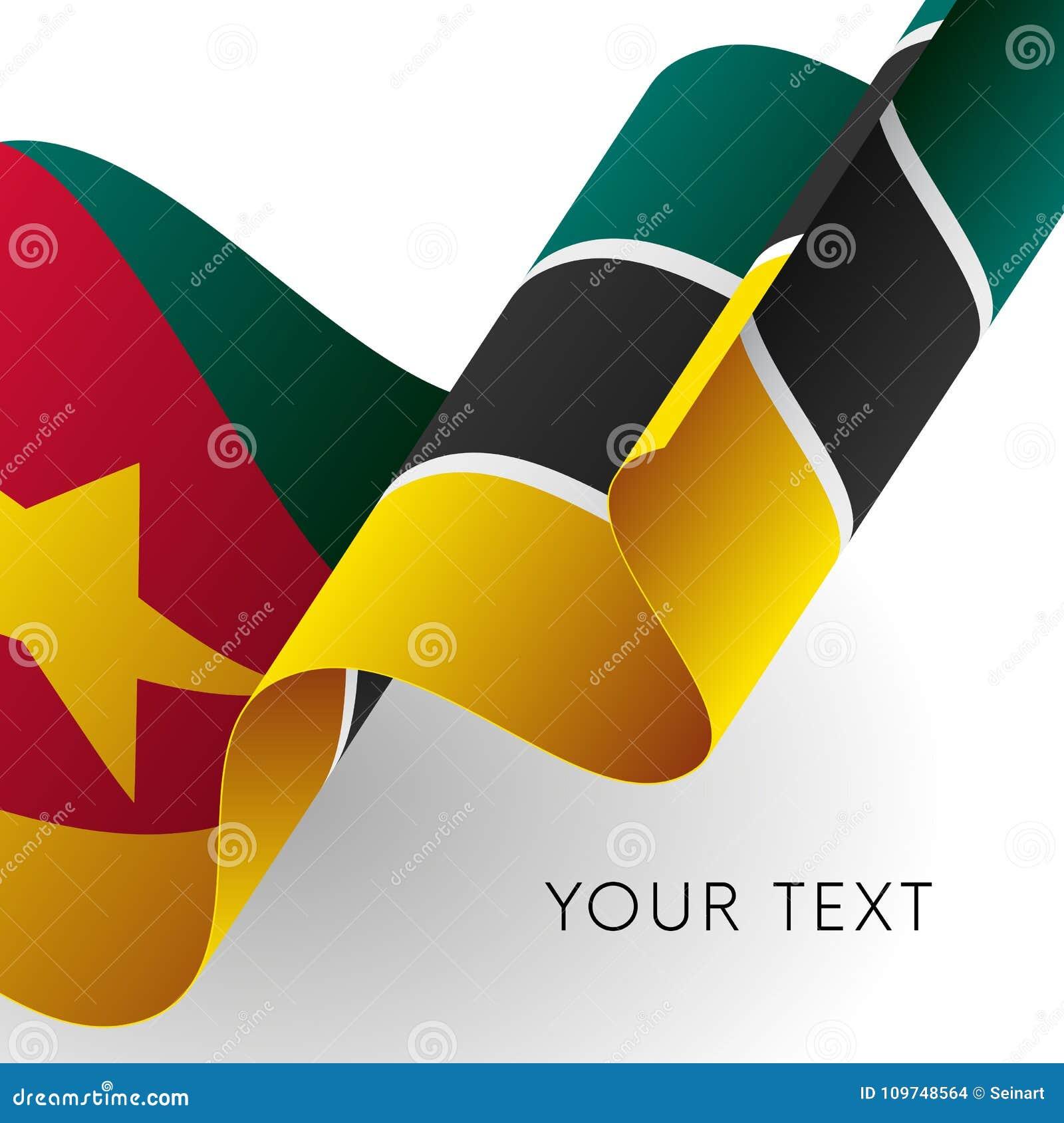 Mozambik flaga Patriotyczny projekt również zwrócić corel ilustracji wektora