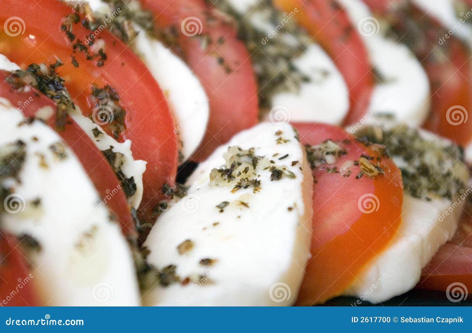 Mozarella en tomaten