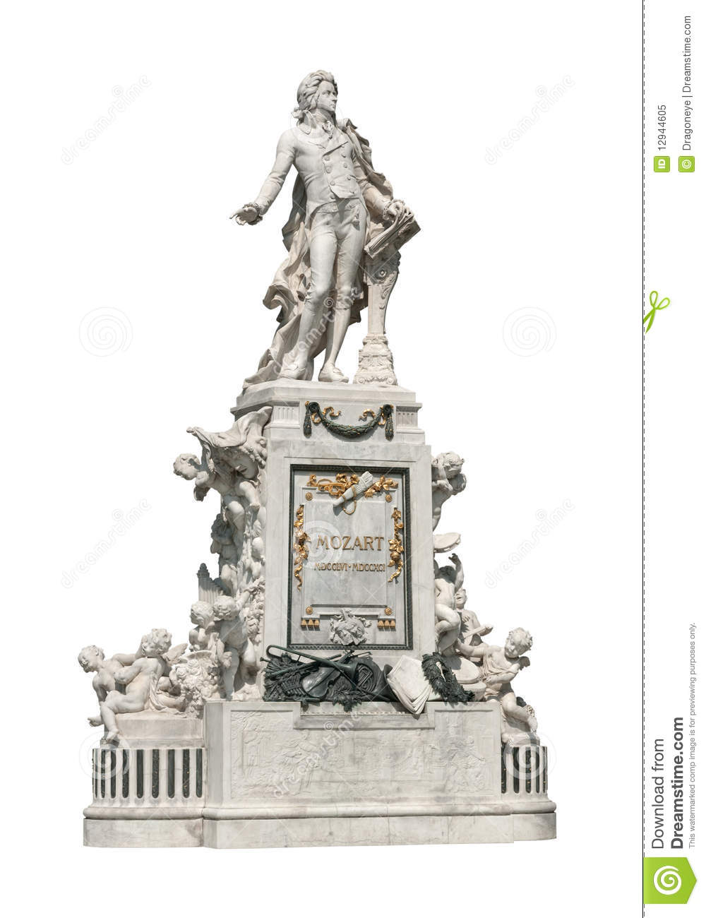Mozart Statue In Vienna Royalty Free Stock Photo - Image: 12944605