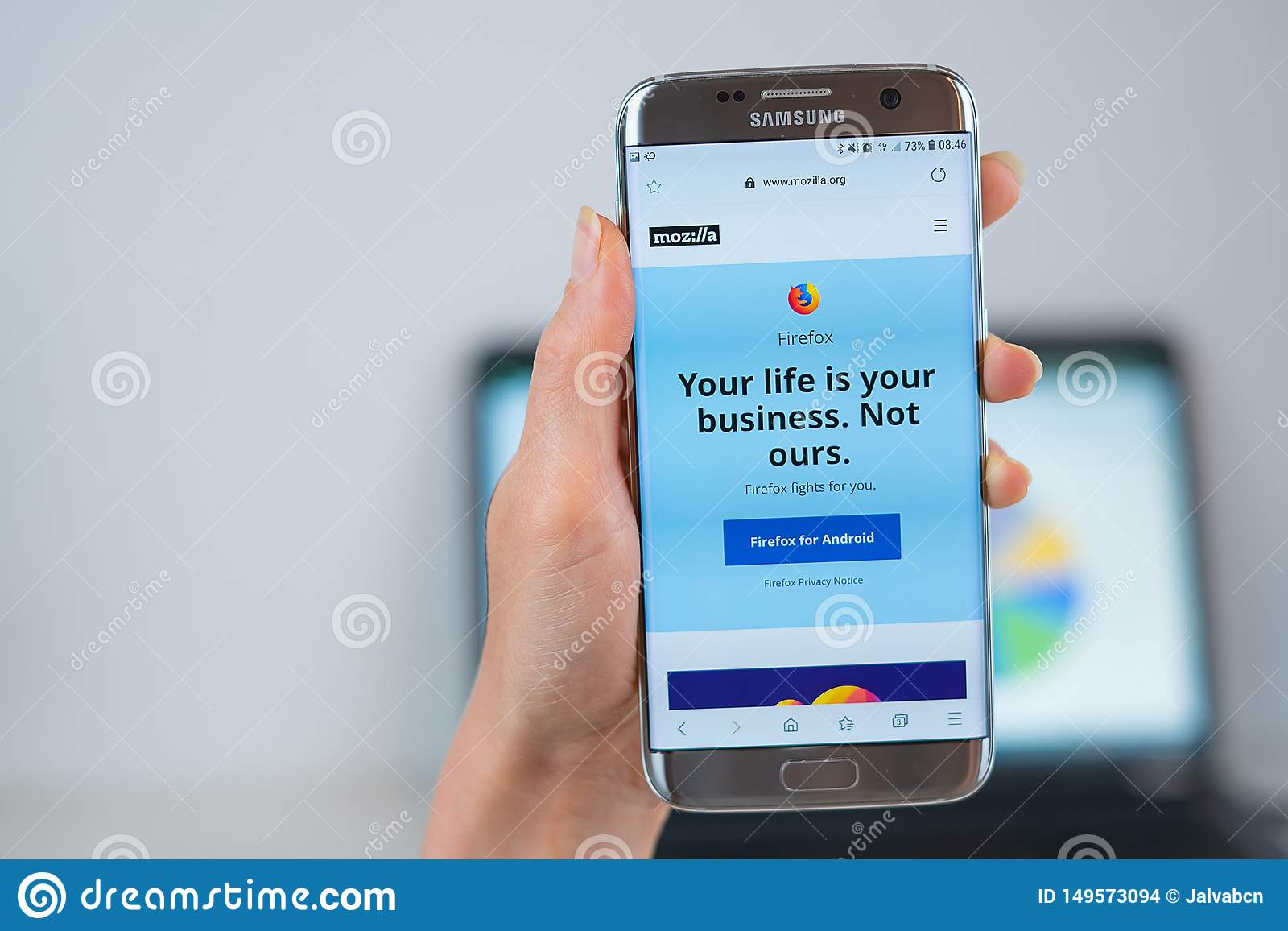 firefox android go to homepage