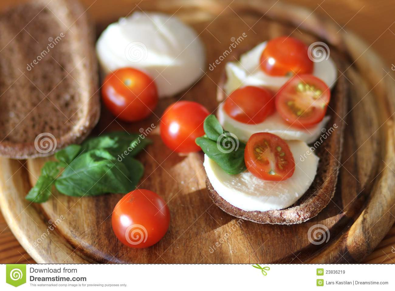 Mozzarella Bread Royalty Free Stock Images - Image: 23836219