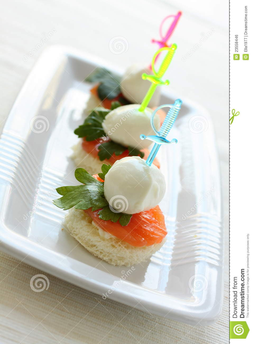Mozzarella cheese canape royalty free stock image image for Mozzarella canape