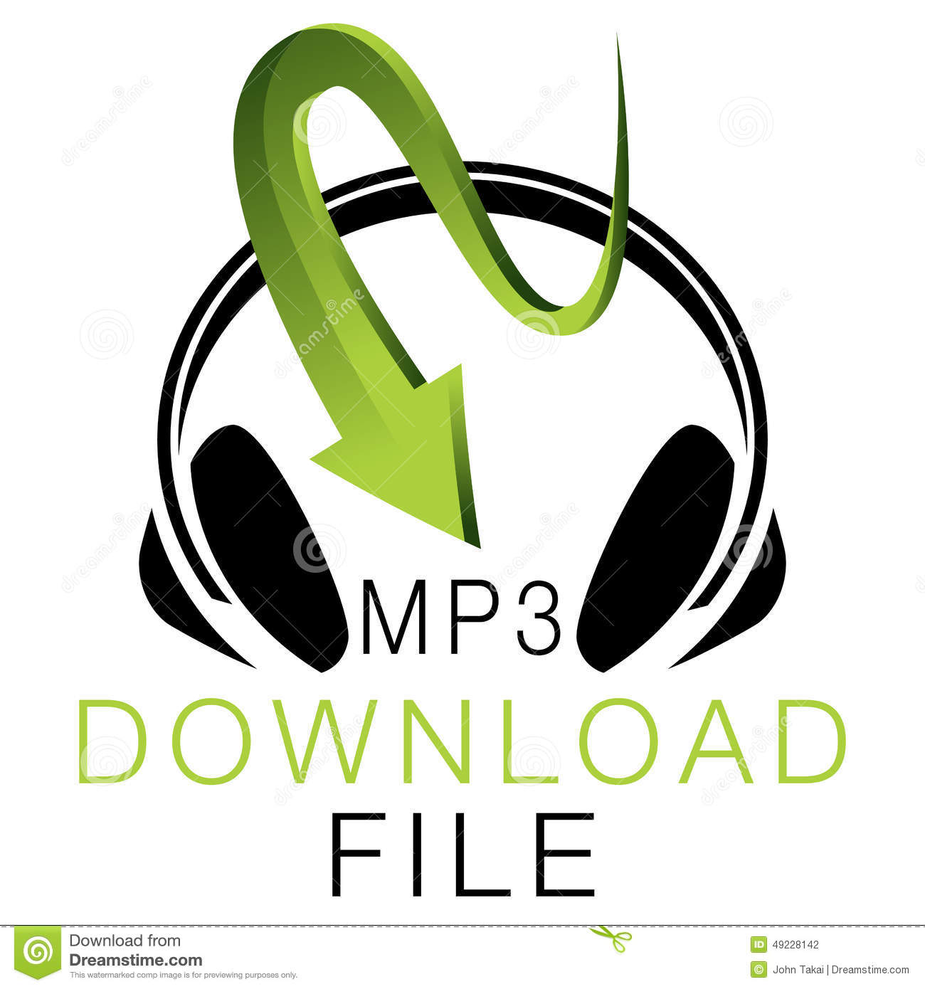 Mp Music Download Icon Stock Vector Illustration Of Isolated