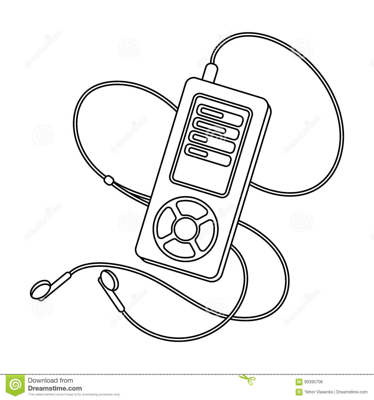 MP3 Player For Listening To Music During A Workout Gym And
