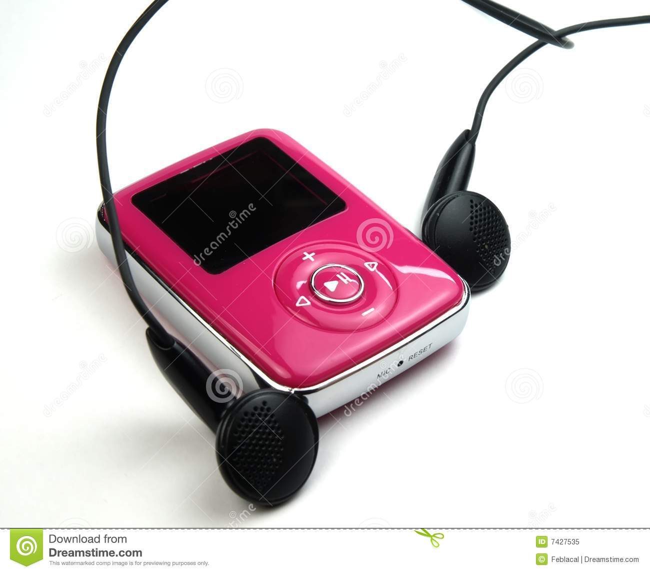 Mp3 stock image  Image of device, information, headphones