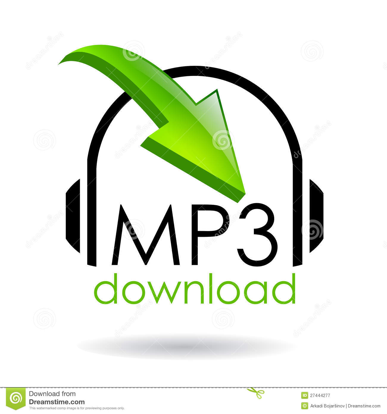 Mp3 download stock vector  Illustration of format, buttons