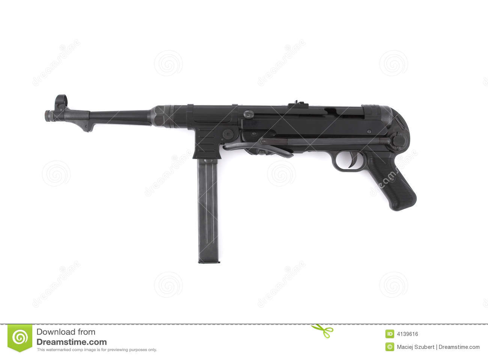 German Ww2 Machine Guns MP40 German submachine gun