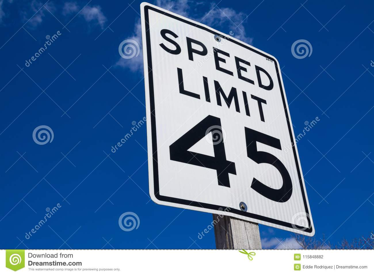 Sign And Drive 45 >> 45 Mph Sign Stock Photo Image Of Miles Drive Five 115848882