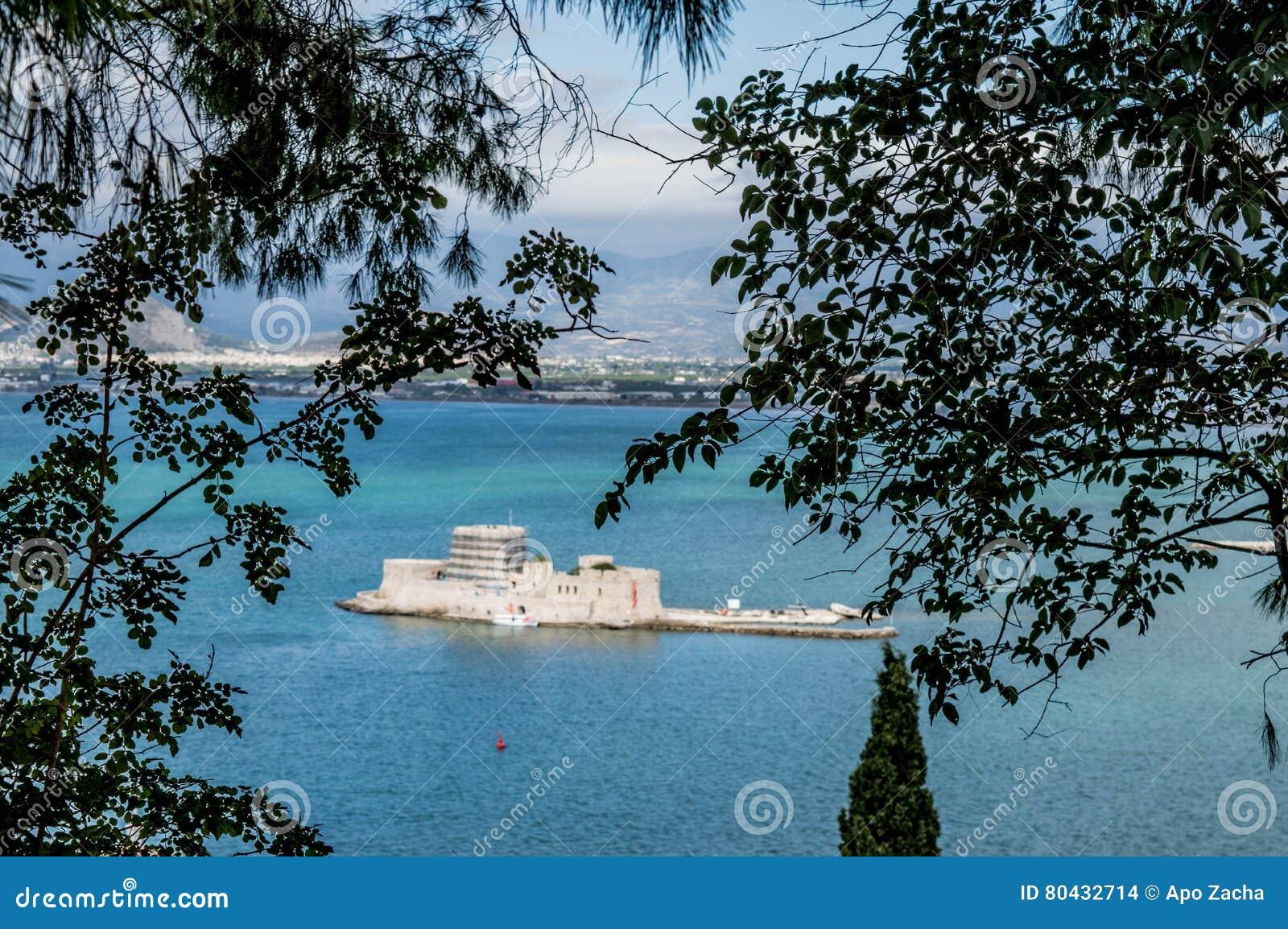 Mpourtzi slott i Grekland