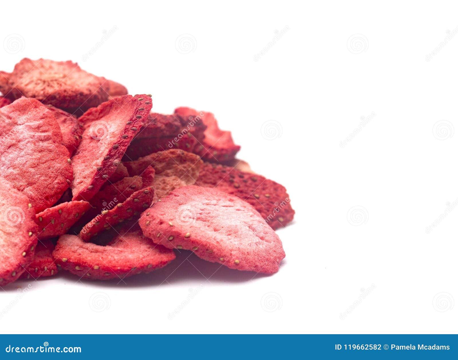 Mróz wysuszone truskawki