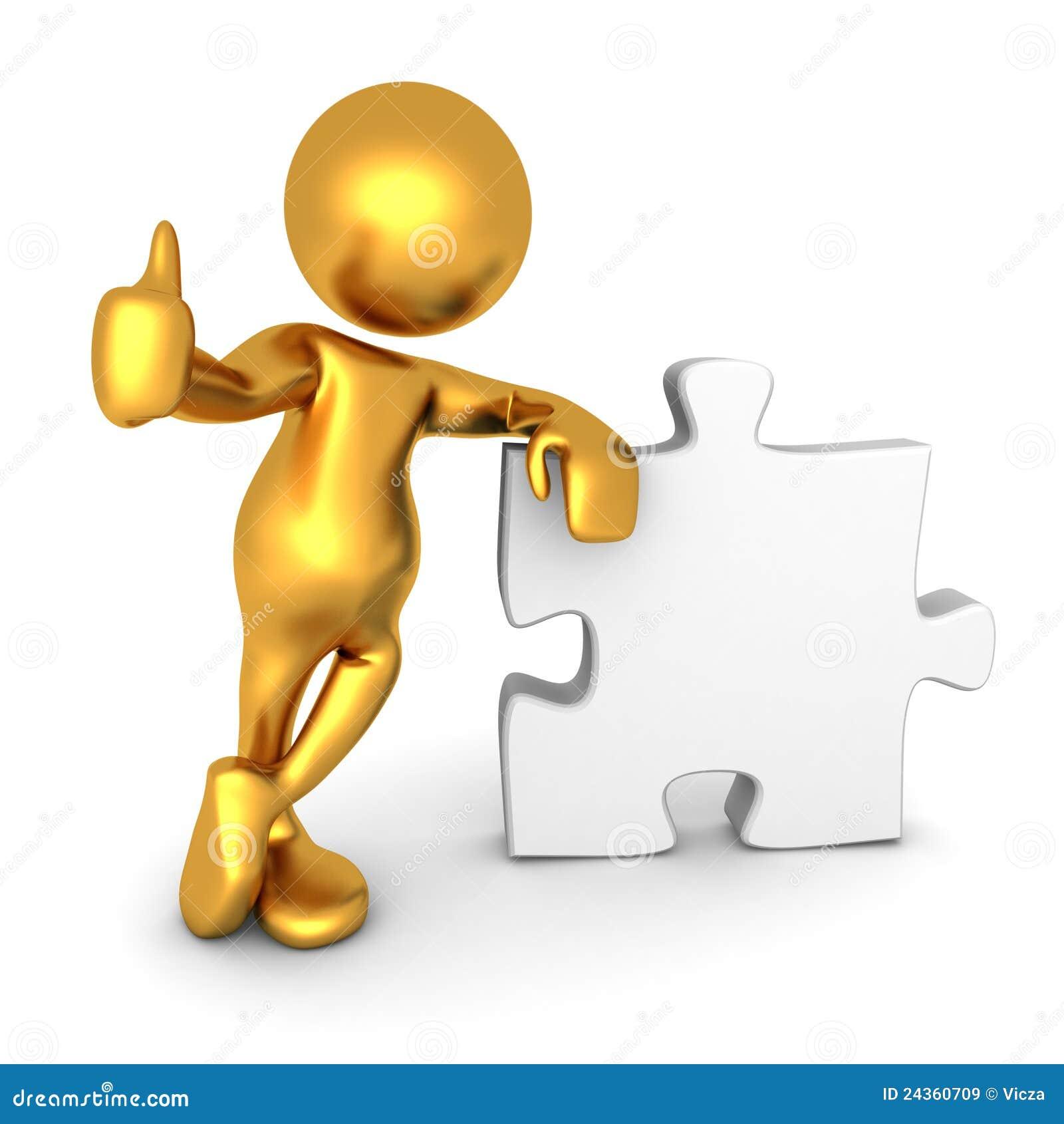 Mr Goldman - Thumbs up puzzle piece