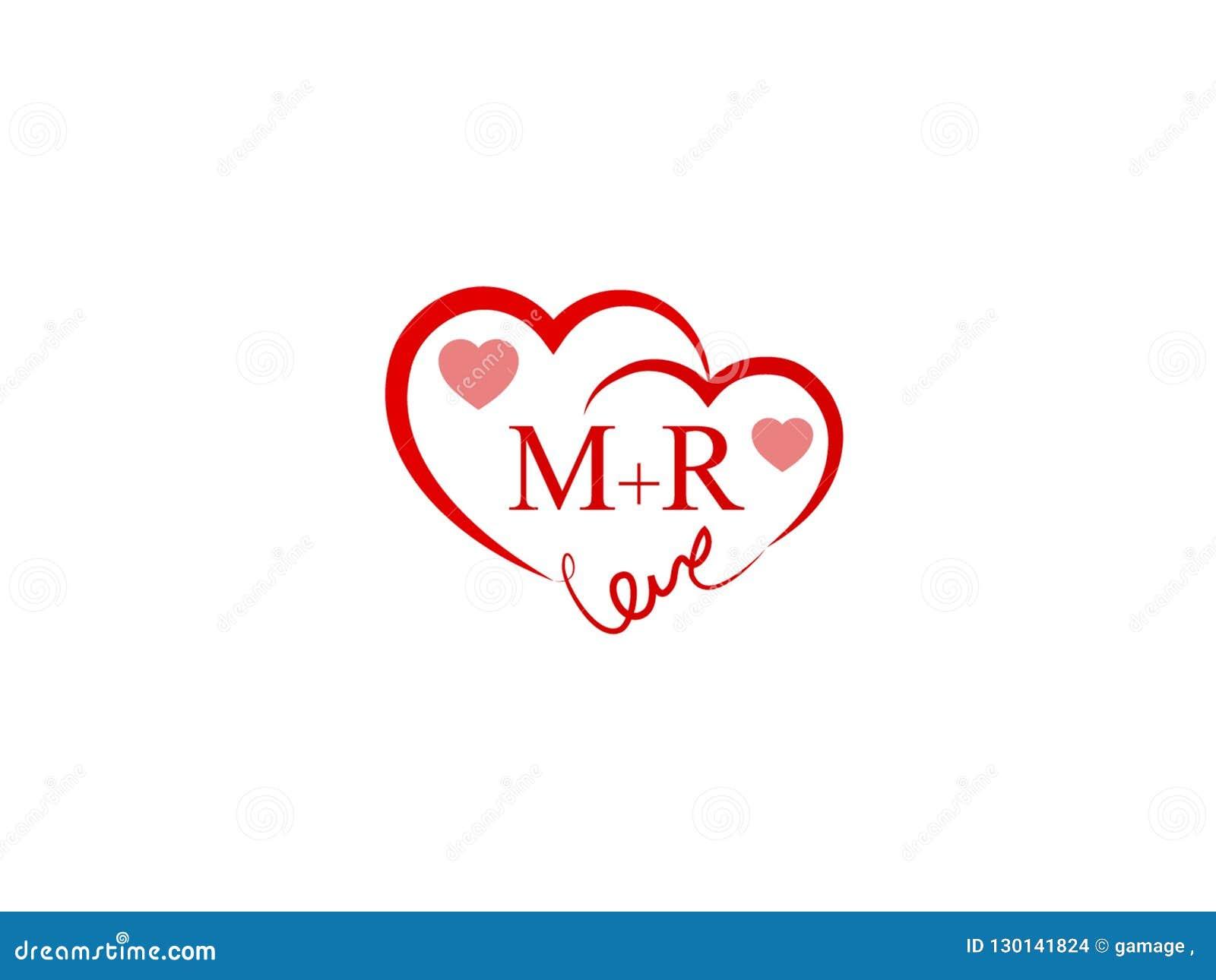 Mr Initial Heart Shape Red Colored Love Logo Stock Vector Illustration Of Letter Business 130141824 Floral letter m for girls, m. https www dreamstime com mr initial heart shape red colored love logo letter design wedding invitation name business image130141824