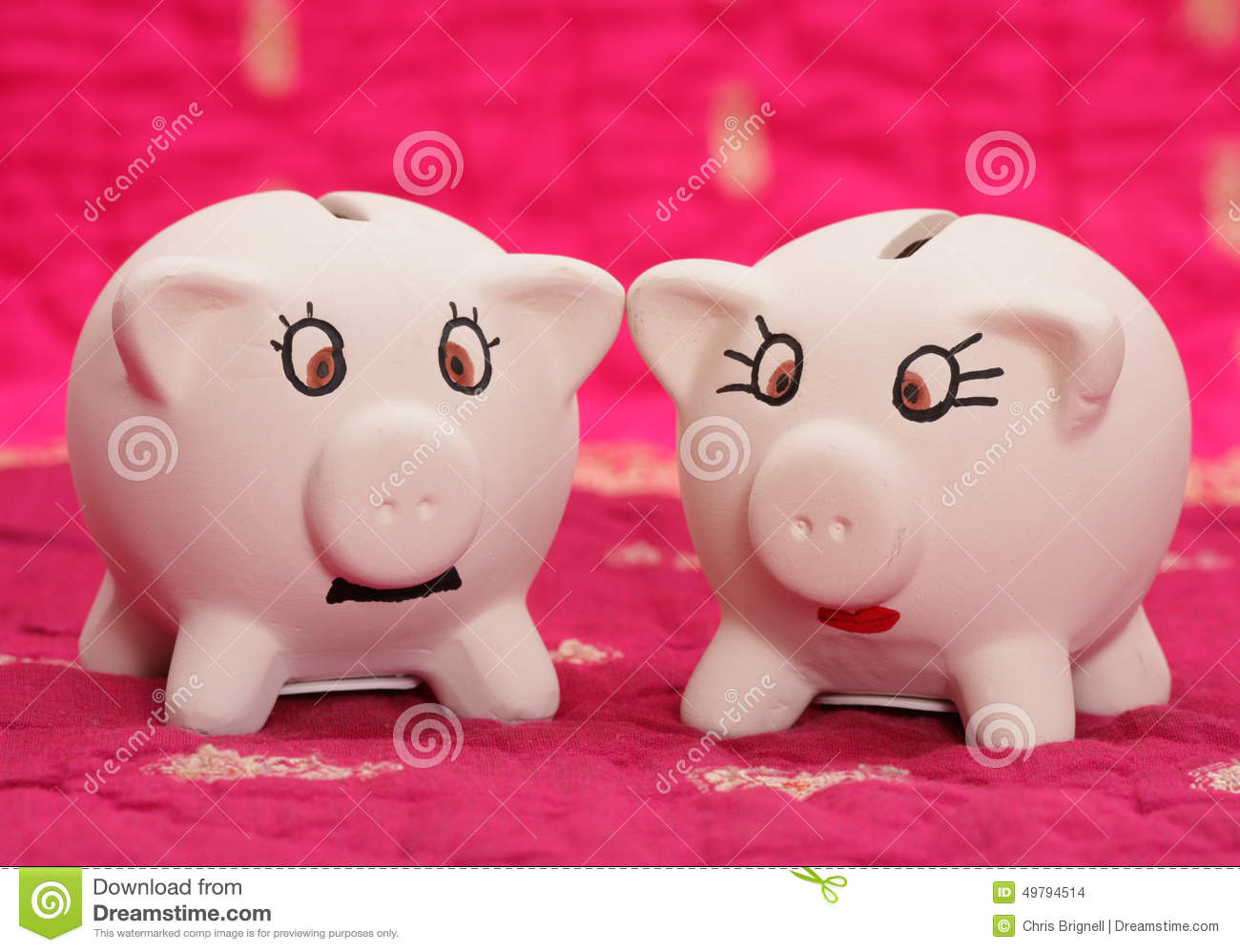 mr and mrs piggy bank stock photo image of characters 49794514