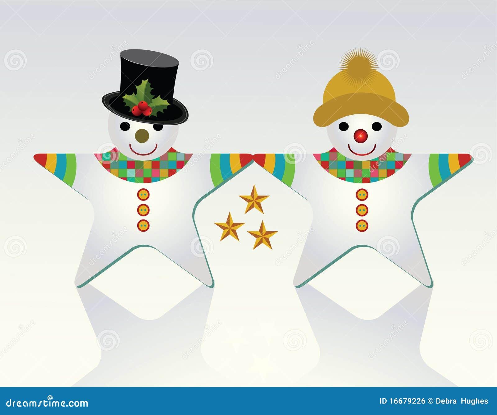 Mr and Mrs Snowman (unique shape)