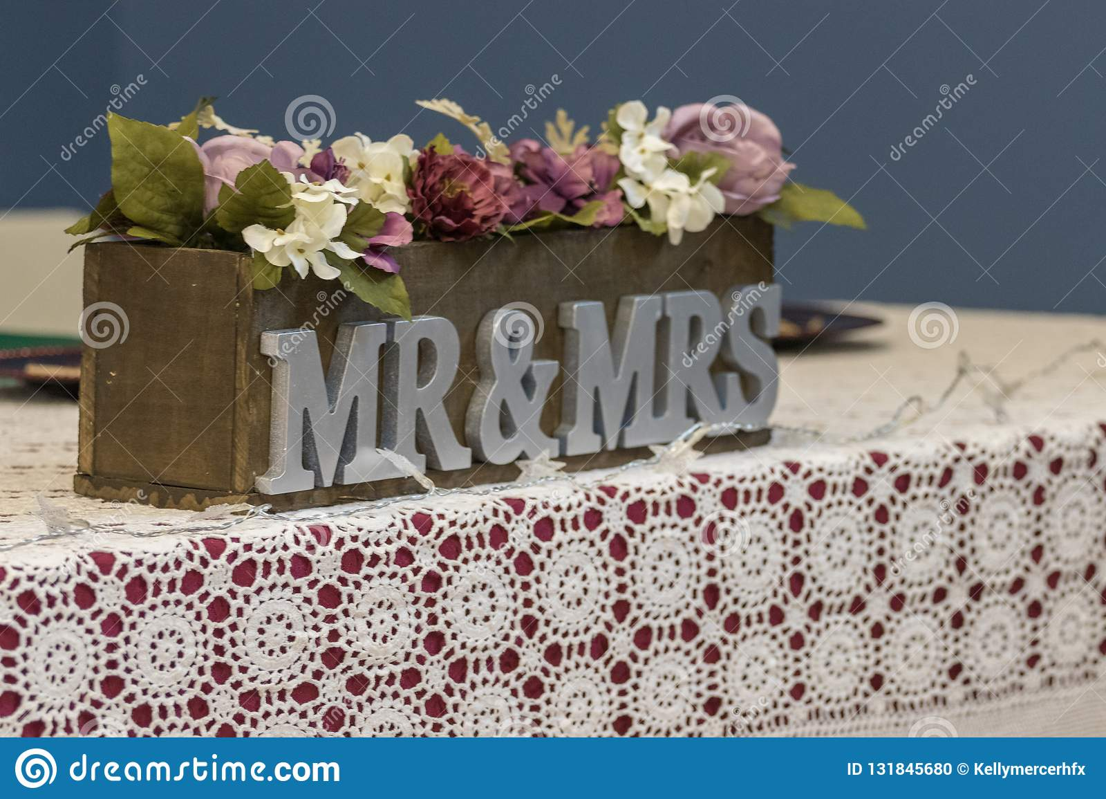Mr and Mrs Wedding Table Setting