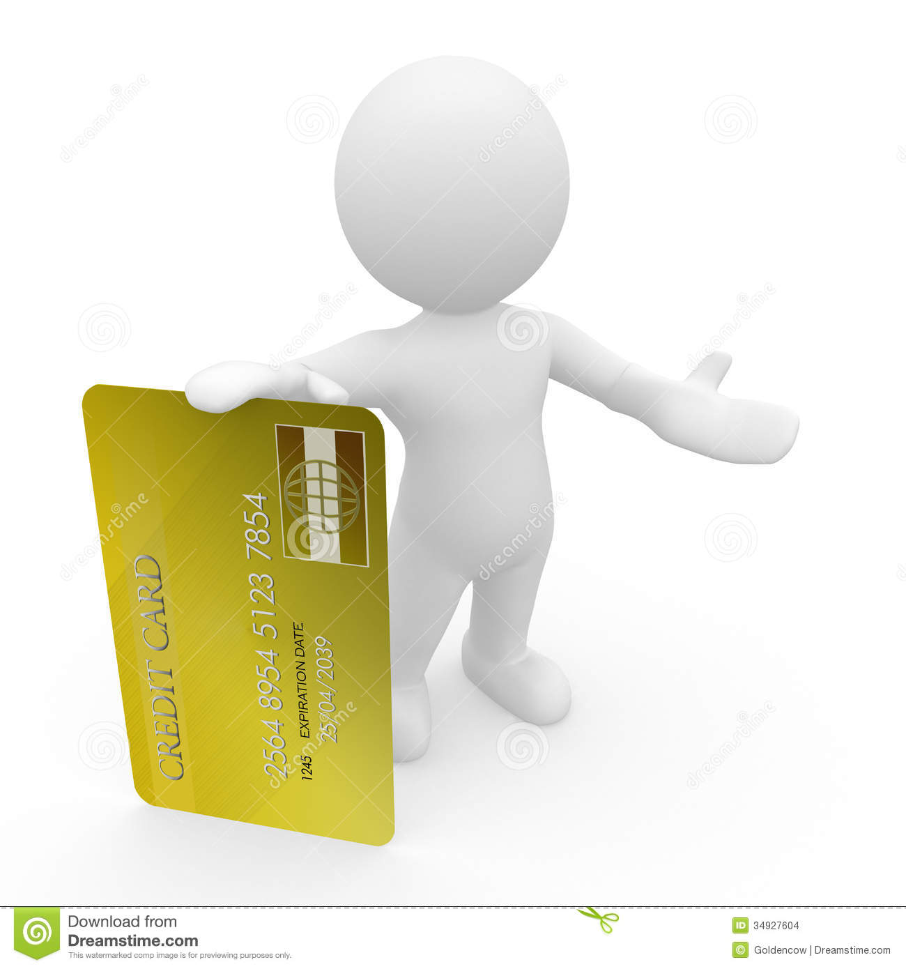 Mr. Smart Guy with credit card