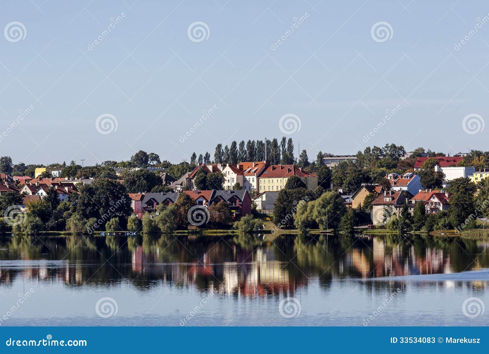 Mragowo,城市Masurian湖区,波兰