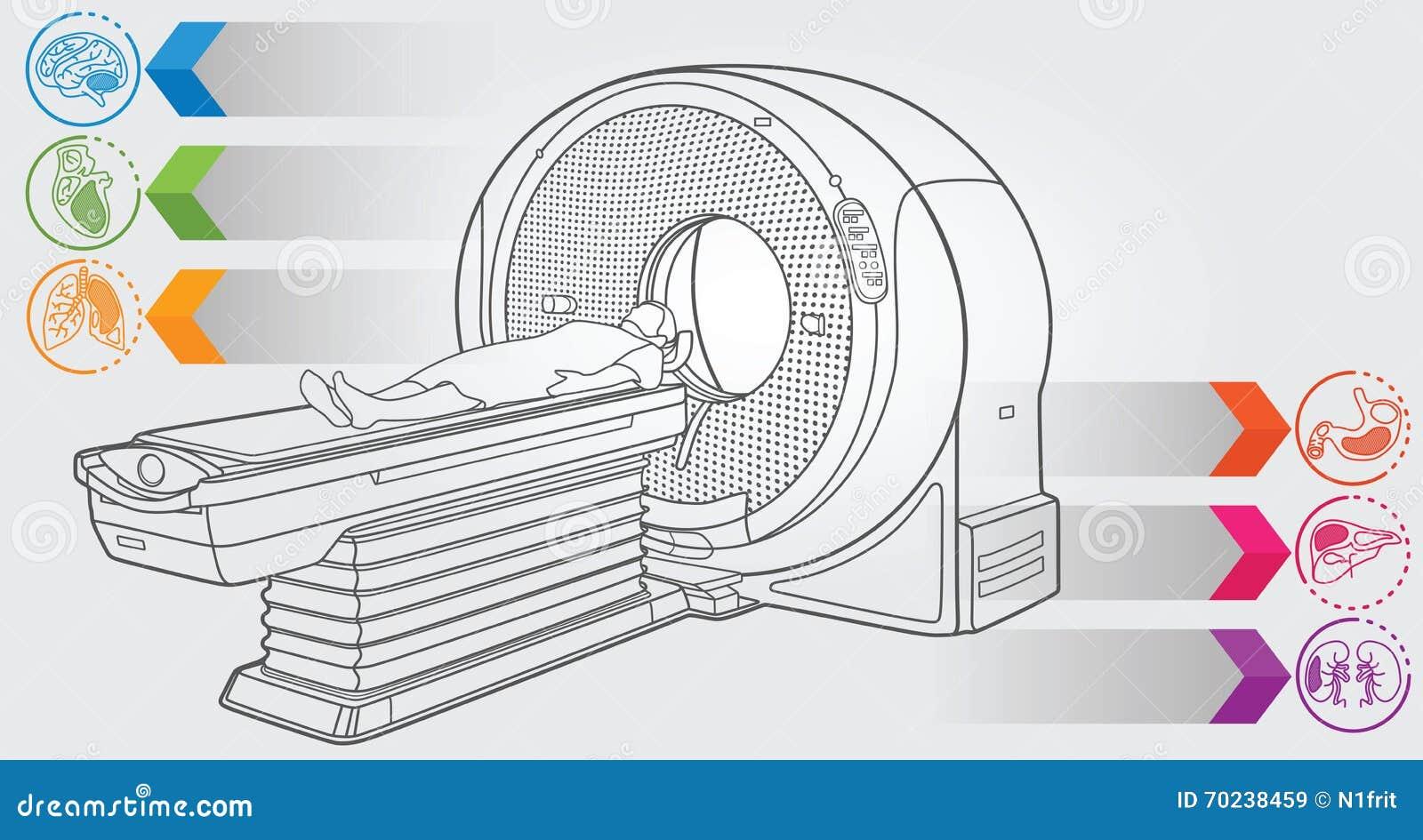 Line Art Printing And Design : Mri diagnostic stock vector image