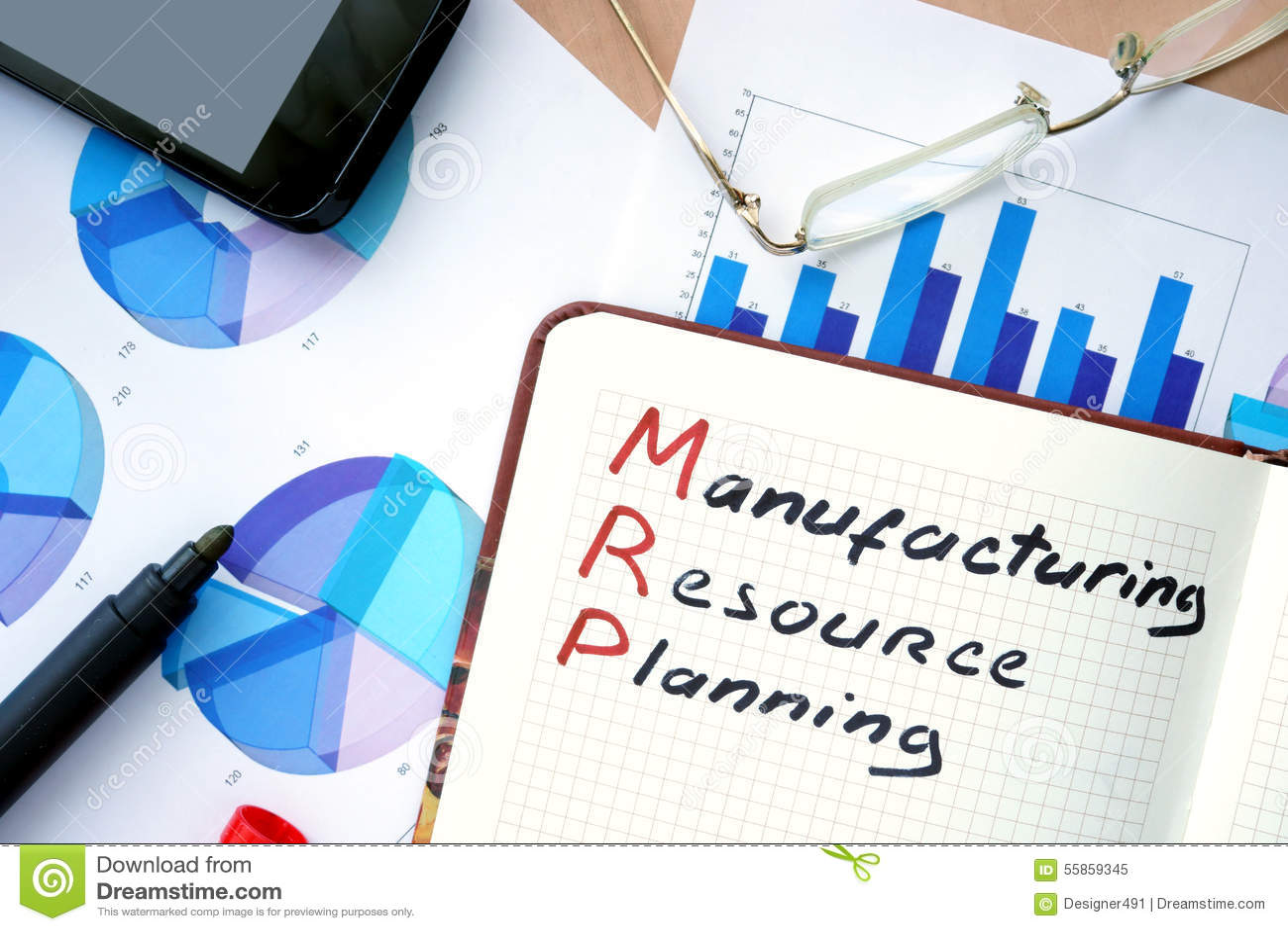 MRP Manufacturing Resource Planning Stock Photo - Image: 55859345