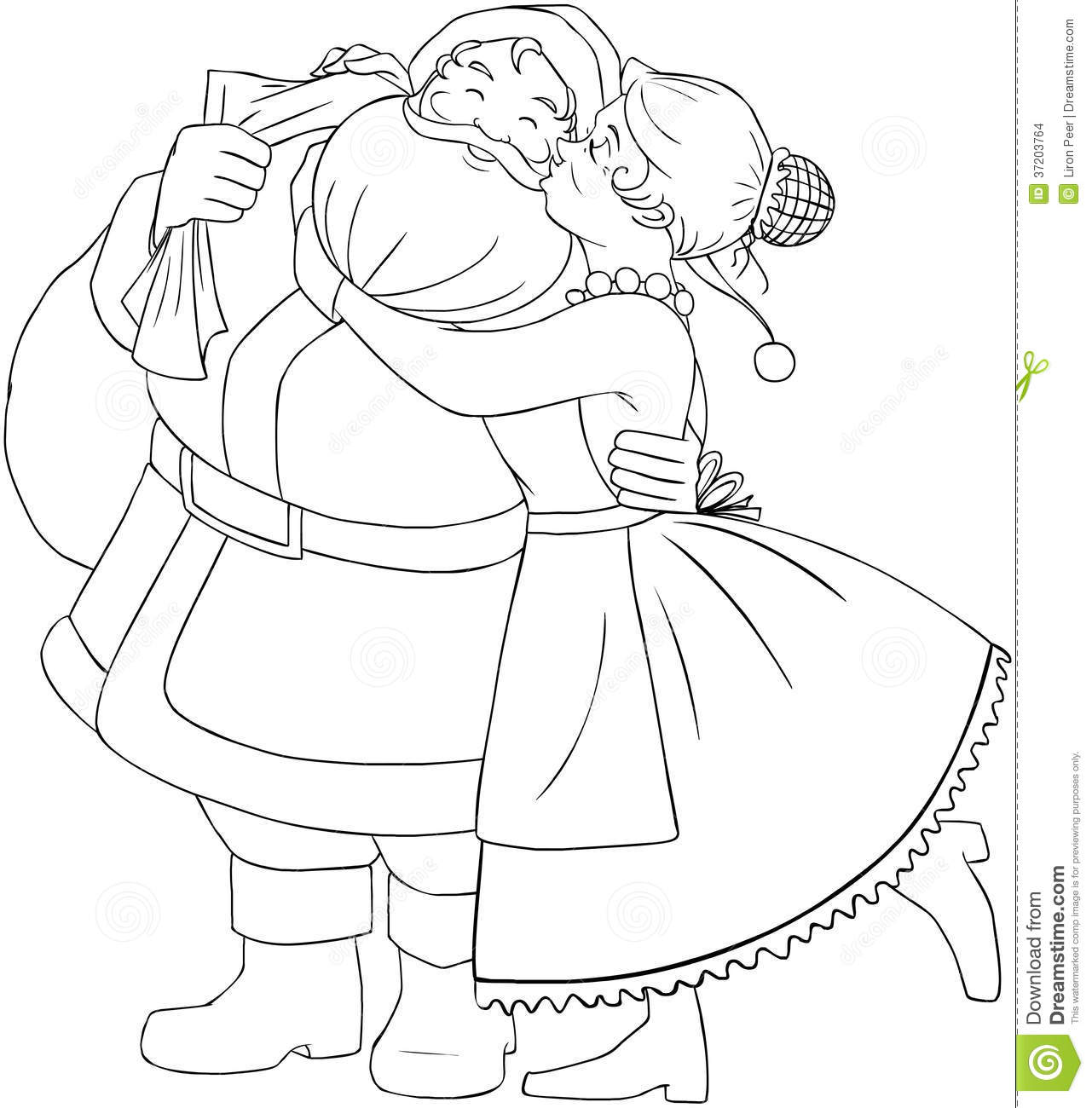 Mr. & Mrs. Claus Coloring Page - Free Christmas Recipes, Coloring Pages for  Kids & Santa Letters - Free-N-Fun Christmas | 1300x1281