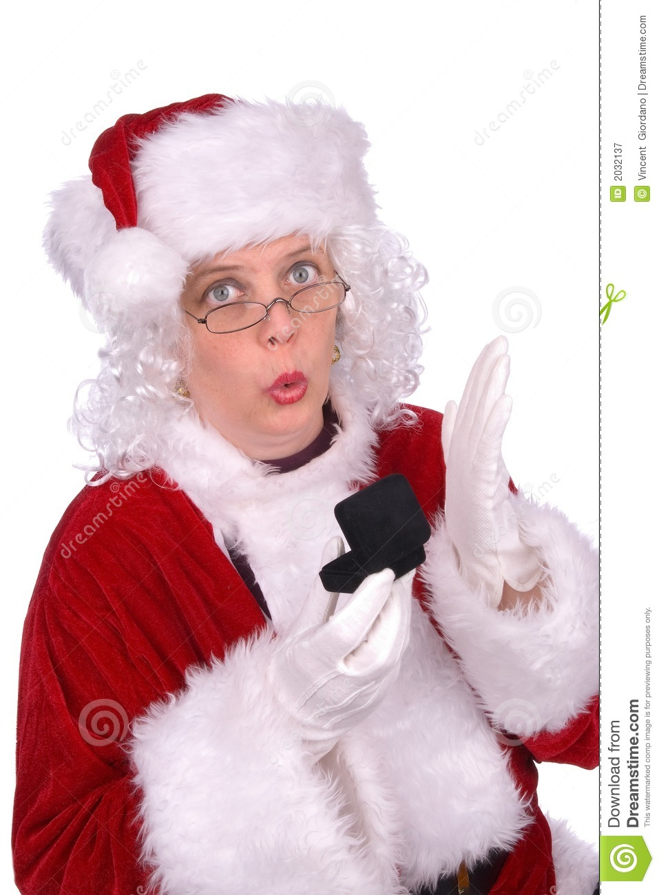 Mrs claus with ring royalty free stock photography image 2032137
