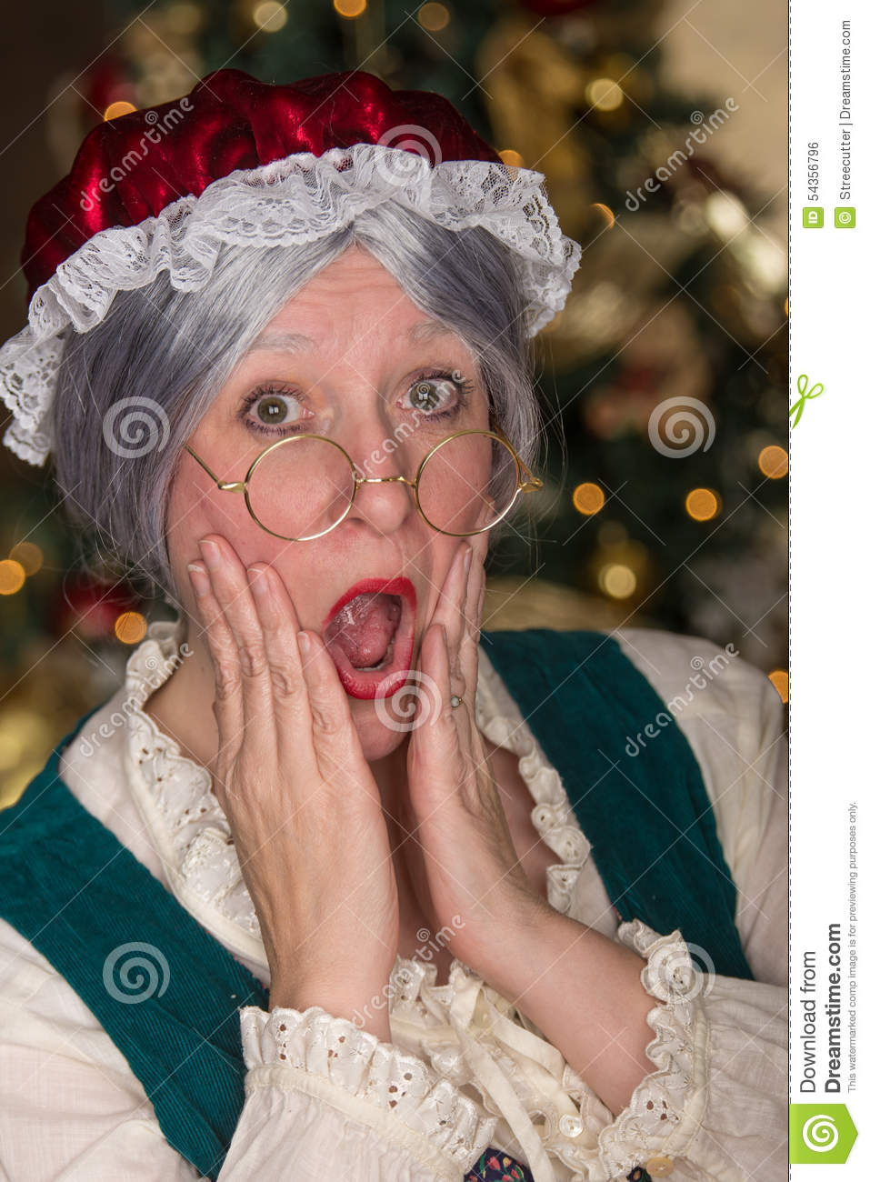 Mrs Clause is shocked