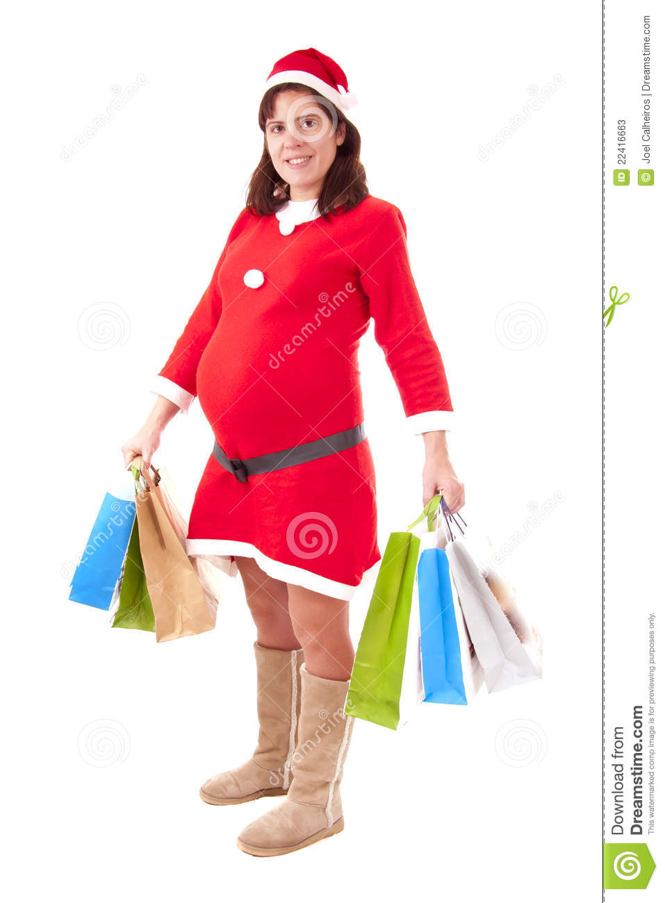mrs santa claus pregnant stock photos image 22416663