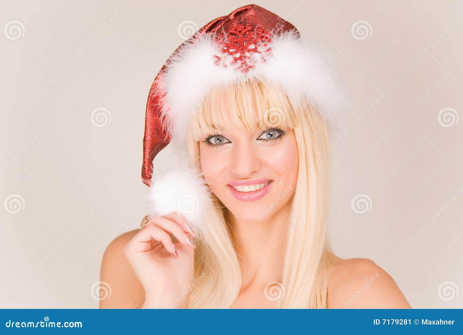 Mrs santa sexy smiling