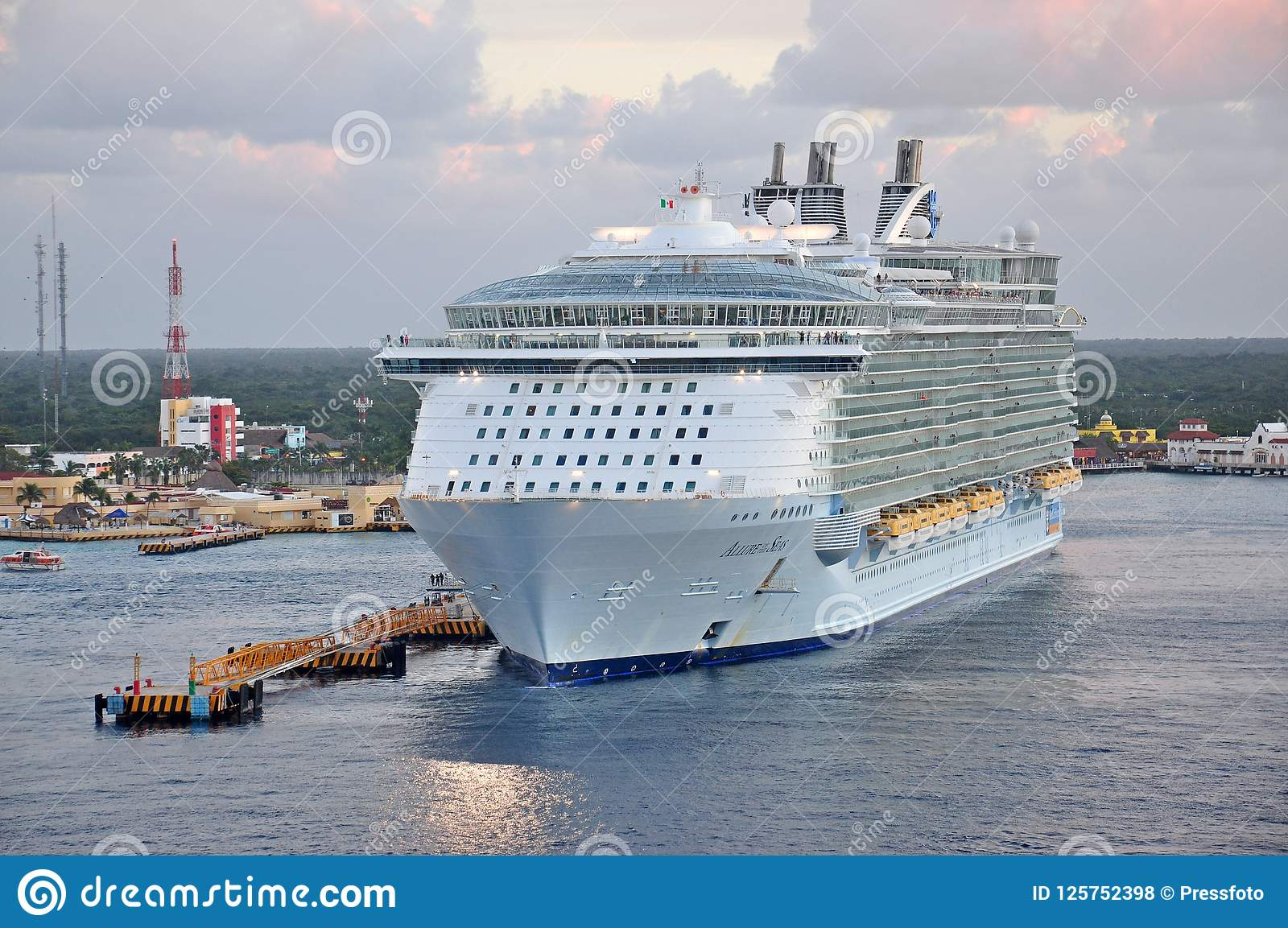 MS Allure of the Seas in Cozumel, Mexico