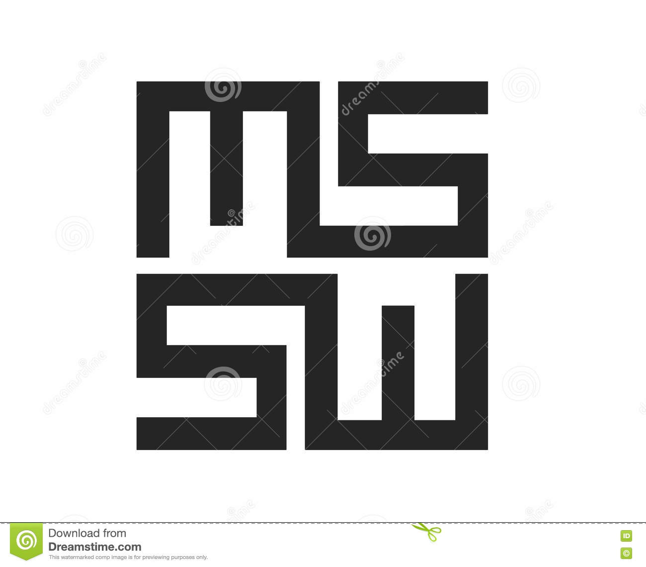 MS Logo Design Stock Vector - Image: 81272209